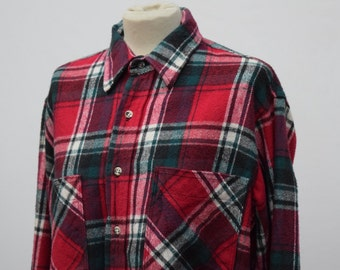 Checkered Red & Green Flannel Shirt