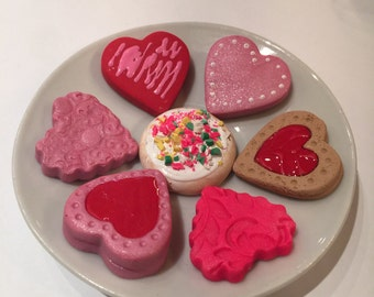 polymer clay cookies,American girl food, resin teacups, pretend food, toys, play food, American girl accessories,doll cookies,18 inch