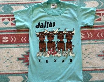 Vintage Dallas Texas Stylish Cattle T-Shirt