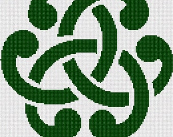Needlepoint Kit or Canvas: Celtic Design 1
