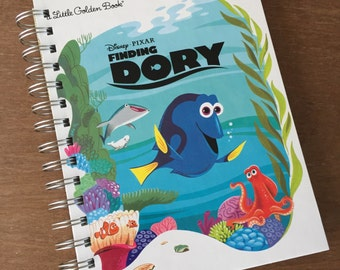 Finding Dory Little Golden Book Recycled Journal Notebook
