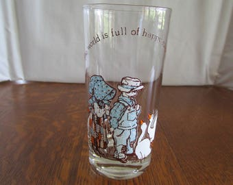 Vintage Holly Hobbie Drinking Glass 1978