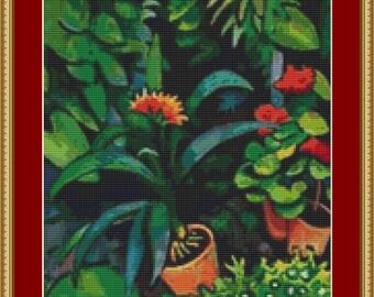 Flowers In The Garden Cross Stitch Pattern
