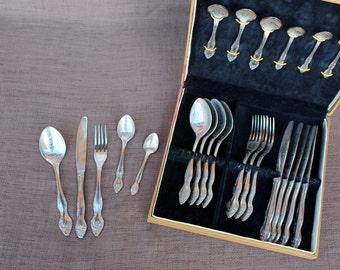 Soviet flatware Soviet cutlery set Soviet vintage flatware Soviet flatware gift set Vintage cutlery Vintage flatware Vintage metal flatware