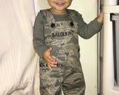 Military Kids Romper - Army,  Navy, Marines, Air Force, Coast Guard