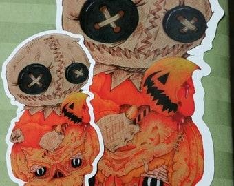 Sam Trick R Treat Vinyl Stickers