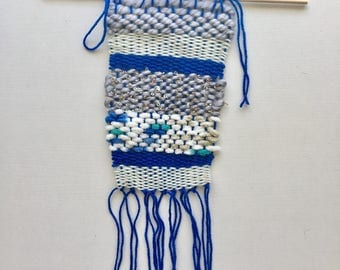 CHARLIE  |  Blue and cream weaving