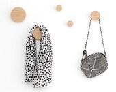 Wall hooks, coat hooks, wooden entryway coat hanger, wood wall hooks, oak hook