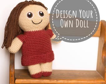 Custom Doll - Look Alike Doll - Choose Your Colors - Crochet Doll