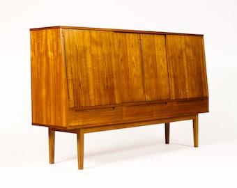 Danish Modern Large Teak High board / Credenza / Cocktail Cabinet — Bernhard Pedersen + Son