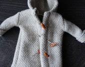 Blythe Doll Outfit /  1/6 doll size / Linen / wool/ Duffle coat/ beige