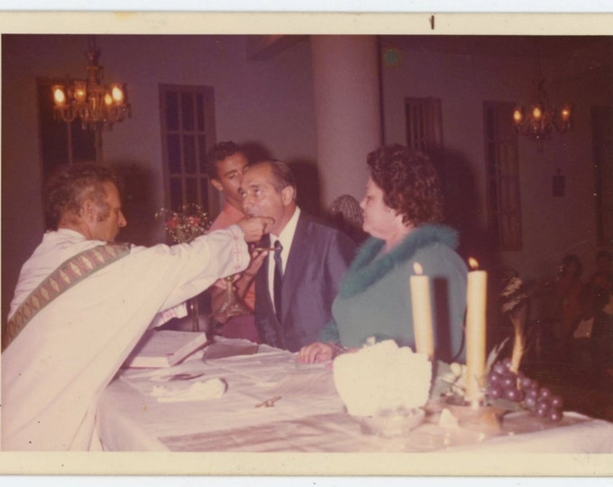 Vintage Snapshot Photo: Holy Communion, 1974 (611515)