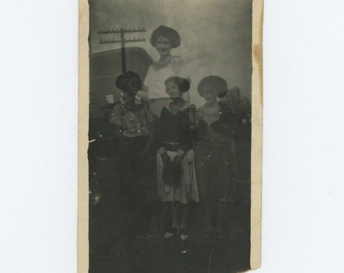 Double Exposure, Young Women, c1920s: Vintage Snapshot Photo [71540]