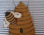 Primitive Folkart Bee Hive Beaconhillcollect We Ship Internationally