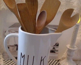 Wooden Utensils Farmhouse Country Decor Shabby Chic Primitive Spoons Beaconhillcollect Collectibles We Ship Internationally