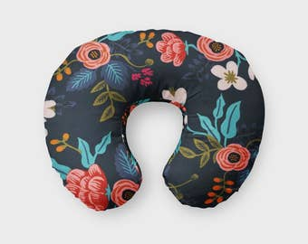 Boppy Cover in Birch Floral, Rifle Paper Floral, Birch Floral in Navy Nursing Pillow, Rifle Paper Co, Nursing Pillow Cover, Boppy Slipcover