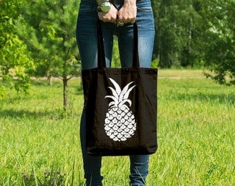 Pineapple // Casual Cotton Canvas Tote