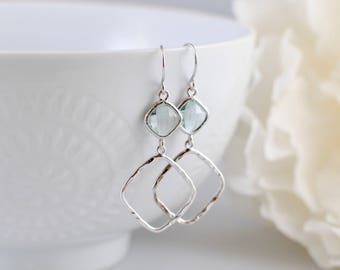 The Sophie Earrings - Erinite/Silver