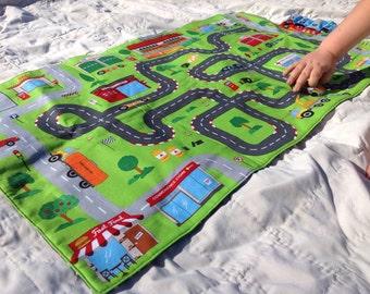 Toy Car Play Mat, Car Floor Mat, Imagination Toys, Race Track, Car Mat, Boys Toys, Boys Birthday Gift, Pretend  Play
