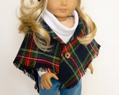 Mad for Plaid Cape, Jeans, Shirt, Hat for 18 Inch Doll