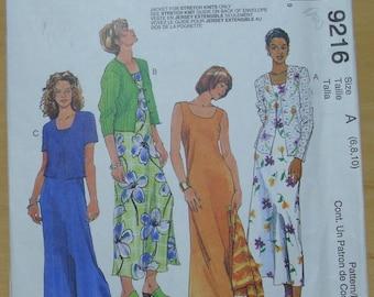 Free shipping! McCall's 9216 Sleeveless dress and jacket sewing pattern 6-8-10 UNCUT