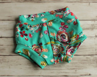 Floral Girl Shorts, Girl Shorts, Floral Shorties, Bubble Shorts, Baby Bloomers, Bummies, Toddler Shorts, Kid Shorts, Shorties, Baby Shorts