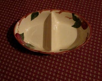 franciscan ware apple divided serving dish