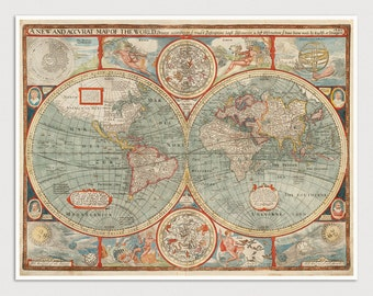 Old World Map Art Print 1626 Antique Map Archival Reproduction