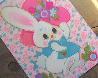 Easter Home Decorations Hallmark Press Out Punch Out Rabbit Bunnies Easter Eggs