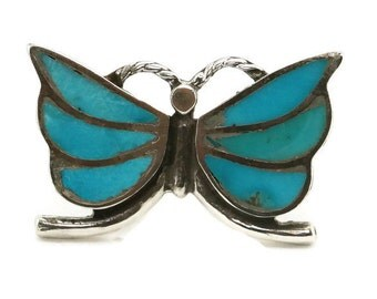 Turquoise &Sterling Silver Butterfly Ring