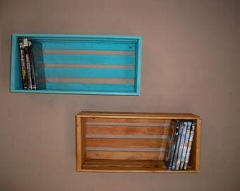 Special Listing For Camace,Wood Crate Shelving, Wall Decor Shelf's,Wall Shelf For Pictures,DVD Storage Crate, Wood Crate Centerpiece,