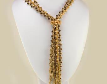 Crystal Splendor Bead Weaving Necklace Kit (Beading Kit)