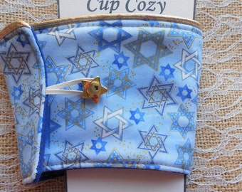 Hanukkah Star of David Coffee Cozy