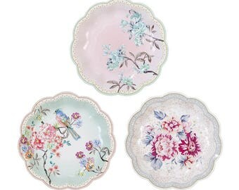 Vintage floral party supplies, Vintage style paper cups, tea party party decorations, boho I do BBQ theme, country style hen night
