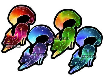 Shy: Galaxy Foxes (Holographic Stickers)