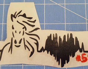 Decals - I can do decals for most anything. If you need a custom order, please message me. Horse heartbeat