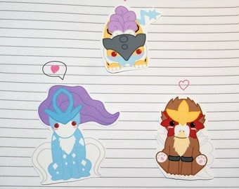 Raikou/Entei/Suicune Stickers and Magnets