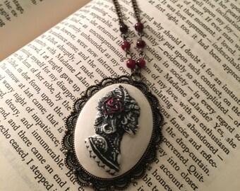 Lady Death Cameo Necklace