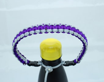 Silver & Purple Color Paracord Handle