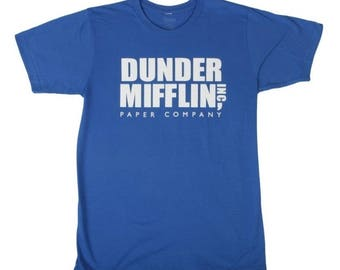 Dunder Mifflin T-shirt. Sizes Men, Women and Youth. New, professionally screen printed