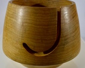 1077 Unique shaped Yarn bowl, made from Spalted Big Leaf Maple