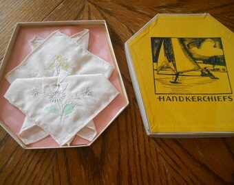 2 Handkerchiefs in Original Box
