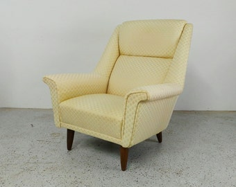 SALE mid century Danish modern lounge chair by G Thams for Vejon Polster Moblefabrik