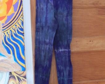 Purple and Teal Tye Dye Yoga Leggings, Sale, christmas gift, funky leggings, tye dye, tye dye leggings, yoga leggings, hippie leggings
