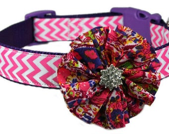 "Flower Accessory for 5/8"", 3/4"", 1"" or 1-1/2"" Dog Collar"