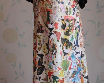 SIMON ELLIS of London MAXI Dress 1970'S Very Striking Uk Size 10 Lovely