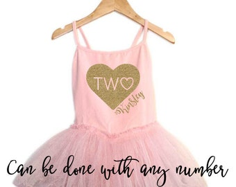 Birthday tutu dress - Second Birthday outfit - 2nd Birthday ballet tutu dress - Ballet Birthday outfit - Ballerina birthday outfit - Dance