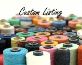 Custom Listing for Crawford's 4-ply Waxed Linen thread