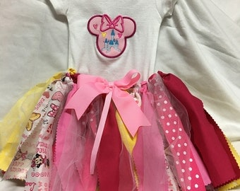 Girly Mouse Tutu Outfit - Onesie and Hair Band included