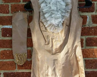 SPRING CLEANING SALE Vintage 40s 50s Showgirl Dance Costume // Handmade Leotard